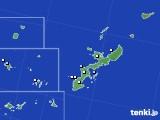 2018年10月17日の沖縄県のアメダス(降水量)