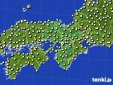 2018年10月19日の近畿地方のアメダス(気温)