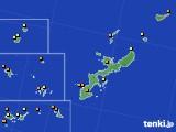 2018年10月21日の沖縄県のアメダス(気温)