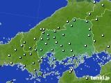 2018年10月23日の広島県のアメダス(降水量)