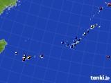 2018年10月24日の沖縄地方のアメダス(日照時間)