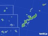 2018年10月25日の沖縄県のアメダス(降水量)