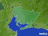 2018年10月25日の愛知県のアメダス(風向・風速)