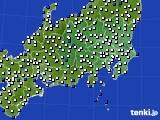 関東・甲信地方のアメダス実況(風向・風速)(2018年10月28日)