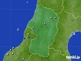 2018年10月29日の山形県のアメダス(降水量)