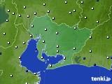 2018年10月29日の愛知県のアメダス(風向・風速)