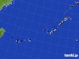 2018年10月30日の沖縄地方のアメダス(日照時間)
