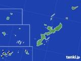 2018年10月31日の沖縄県のアメダス(降水量)