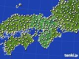 2018年10月31日の近畿地方のアメダス(気温)