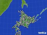 北海道地方のアメダス実況(風向・風速)(2018年11月20日)