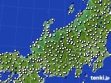 北陸地方のアメダス実況(風向・風速)(2018年11月28日)