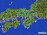 2018年11月30日の近畿地方のアメダス(日照時間)
