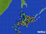 北海道地方のアメダス実況(日照時間)(2018年12月08日)