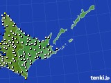 道東のアメダス実況(風向・風速)(2018年12月08日)