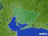 2018年12月19日の愛知県のアメダス(風向・風速)
