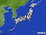 2018年12月25日のアメダス(風向・風速)