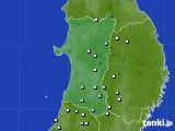 秋田県のアメダス実況(降水量)(2018年12月27日)