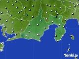静岡県のアメダス実況(気温)(2018年12月27日)