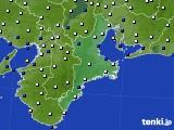 2018年12月29日の三重県のアメダス(風向・風速)