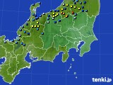 2018年12月30日の関東・甲信地方のアメダス(積雪深)