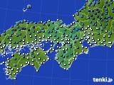 2018年12月30日の近畿地方のアメダス(気温)