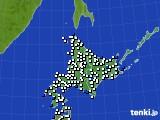 北海道地方のアメダス実況(風向・風速)(2018年12月31日)