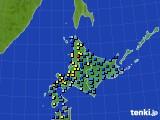 北海道地方のアメダス実況(積雪深)(2019年01月03日)