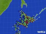 北海道地方のアメダス実況(日照時間)(2019年01月03日)
