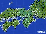 2019年01月03日の近畿地方のアメダス(気温)
