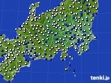 2019年01月03日の関東・甲信地方のアメダス(風向・風速)
