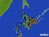 北海道地方のアメダス実況(日照時間)(2019年01月04日)