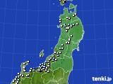 東北地方のアメダス実況(降水量)(2019年01月05日)