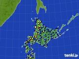 北海道地方のアメダス実況(積雪深)(2019年01月05日)