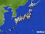 2019年01月05日のアメダス(風向・風速)