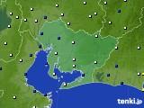 2019年01月05日の愛知県のアメダス(風向・風速)