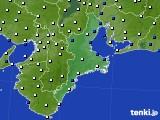 2019年01月05日の三重県のアメダス(風向・風速)