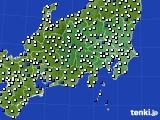2019年01月06日の関東・甲信地方のアメダス(風向・風速)