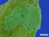 福島県のアメダス実況(風向・風速)(2019年01月06日)