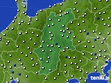 2019年01月06日の長野県のアメダス(風向・風速)