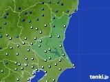 茨城県のアメダス実況(気温)(2019年01月09日)