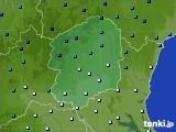栃木県のアメダス実況(気温)(2019年01月09日)