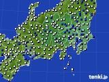 2019年01月09日の関東・甲信地方のアメダス(風向・風速)