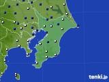 千葉県のアメダス実況(風向・風速)(2019年01月09日)