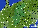 長野県のアメダス実況(風向・風速)(2019年01月09日)