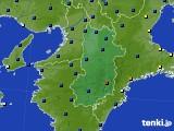 奈良県のアメダス実況(日照時間)(2019年01月10日)