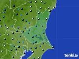 茨城県のアメダス実況(気温)(2019年01月10日)