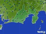 静岡県のアメダス実況(気温)(2019年01月10日)