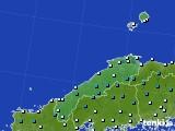 島根県のアメダス実況(気温)(2019年01月10日)