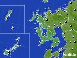 長崎県のアメダス実況(風向・風速)(2019年01月10日)