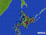 北海道地方のアメダス実況(日照時間)(2019年01月11日)